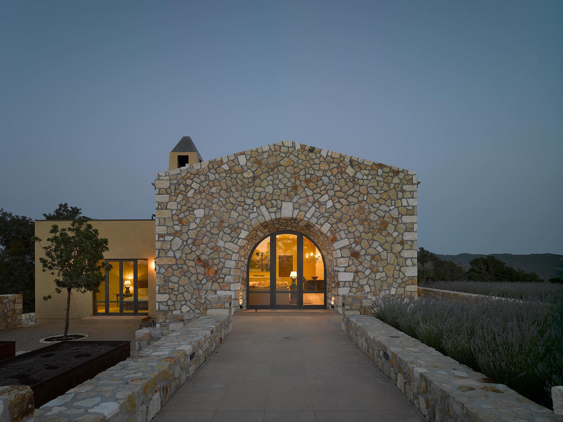 Door of the Villa installing Brombal's burnished brass windows and doors