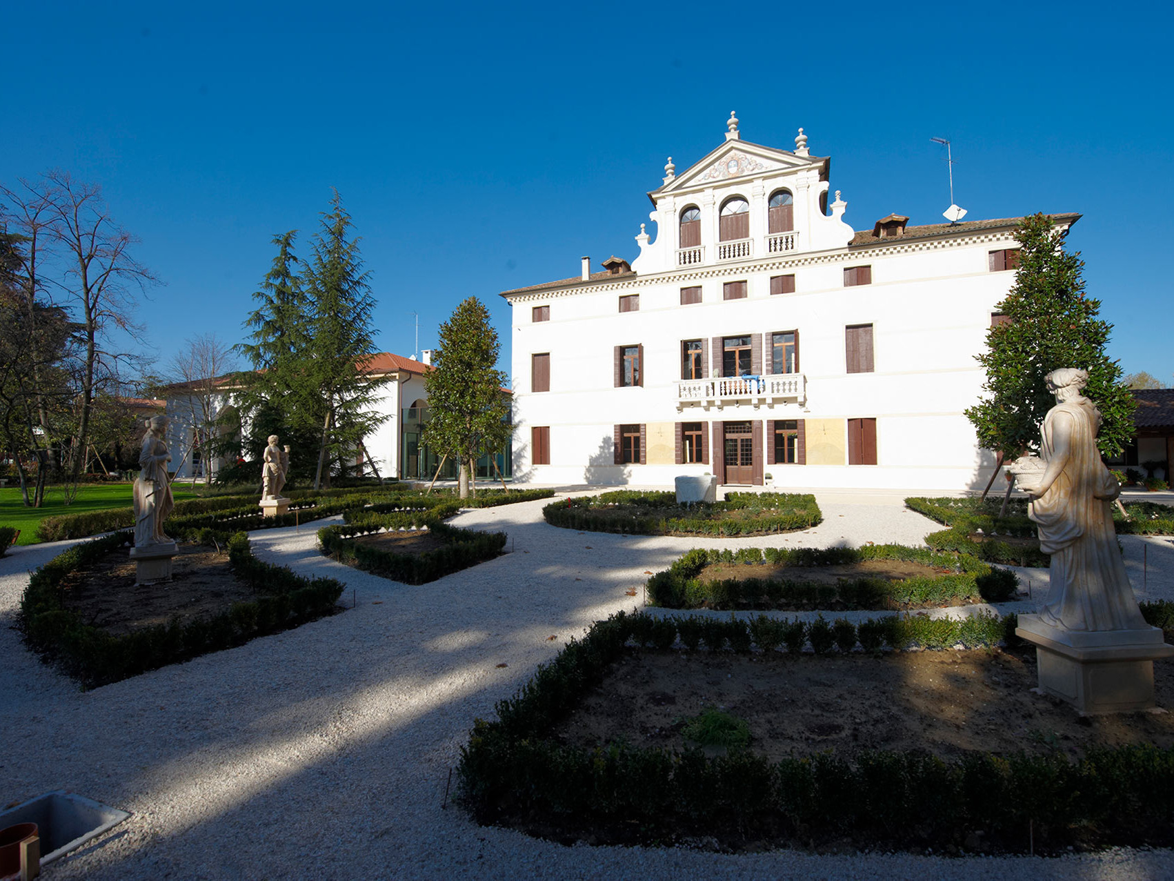 View of the ancient villa