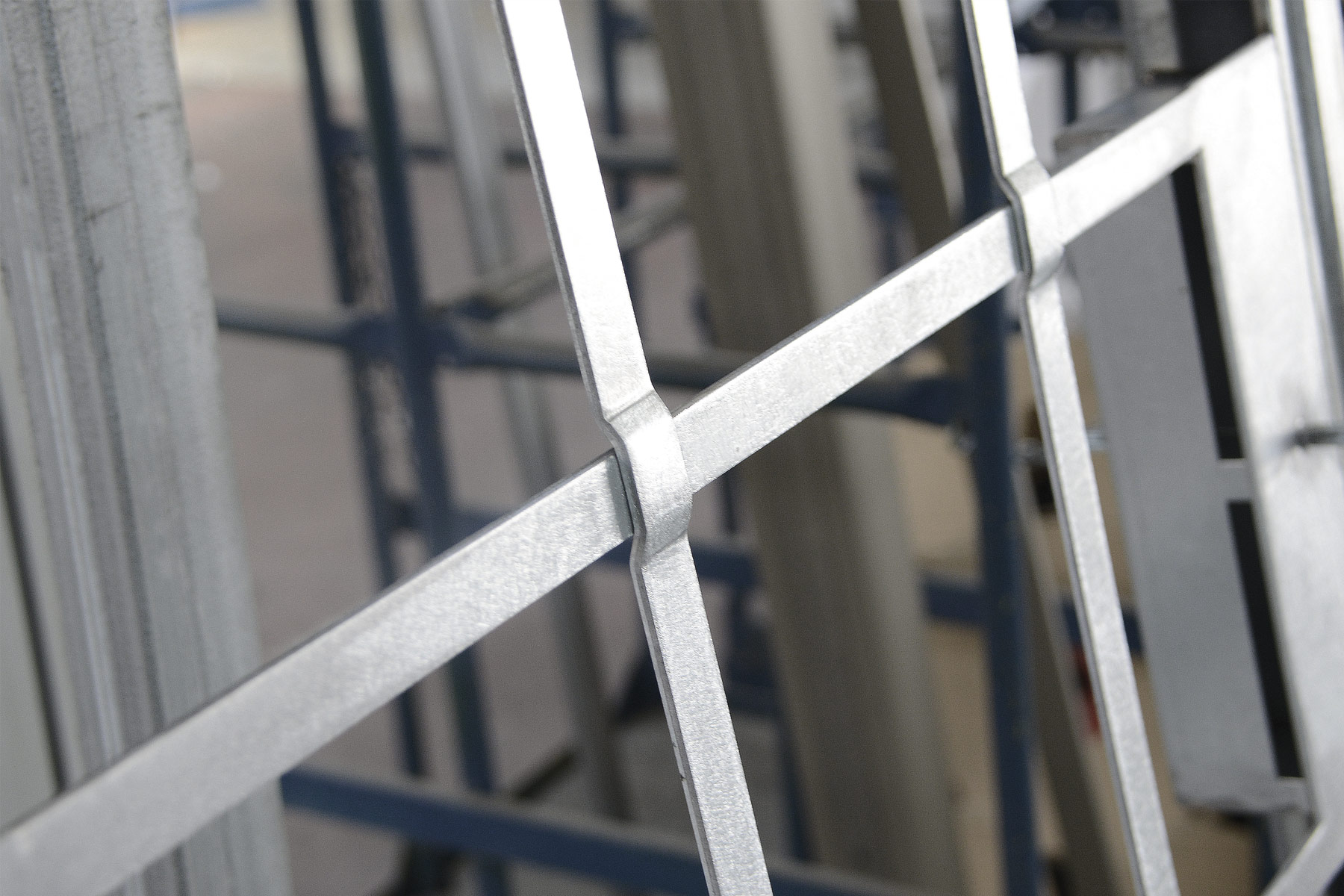 simulated divided window metal structure