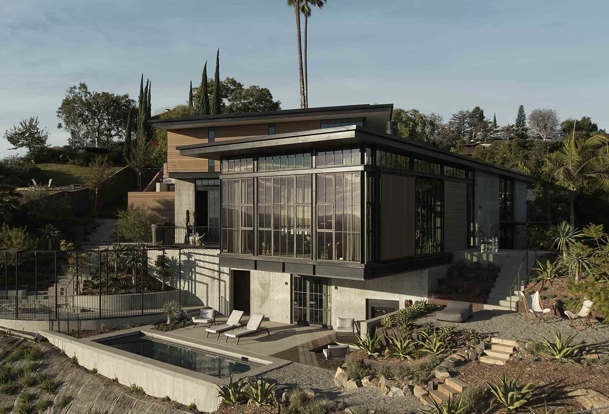 Los Angeles house project with Brombal's metal windows and doors