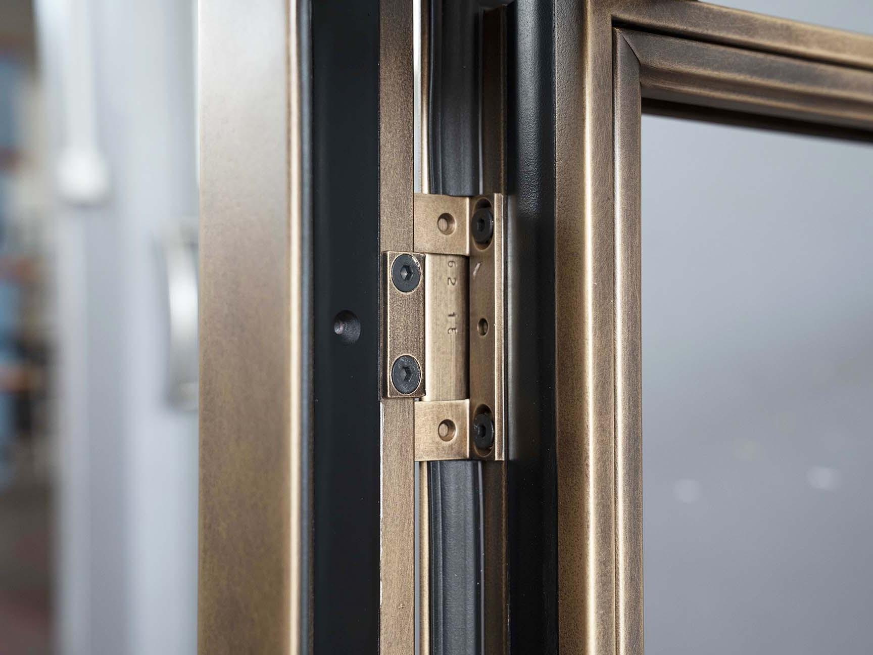 Brass hinged window