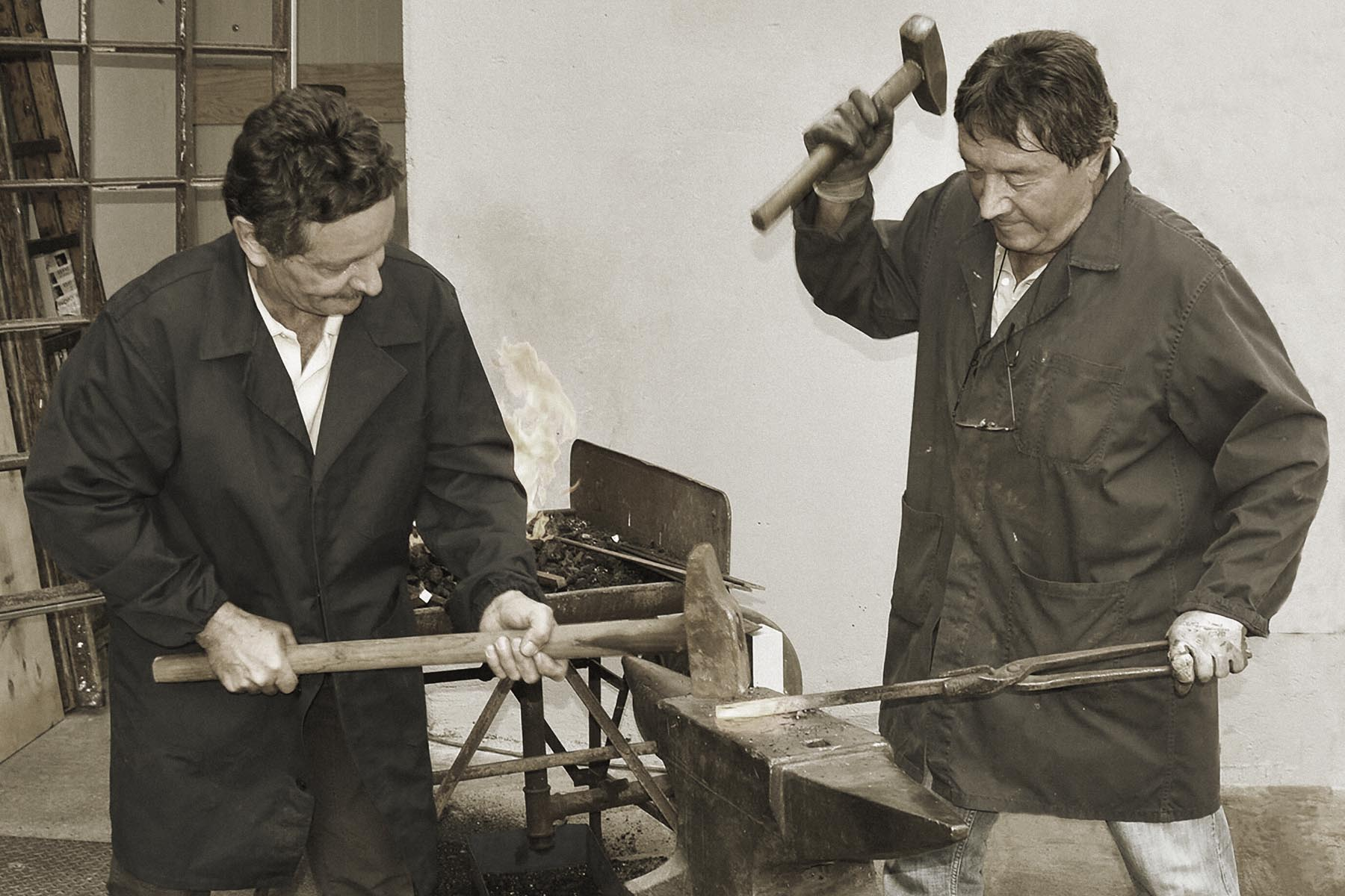 History : handcrafted metal work carried on by Piero Brombal