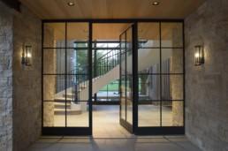 opened metal door inside a villa