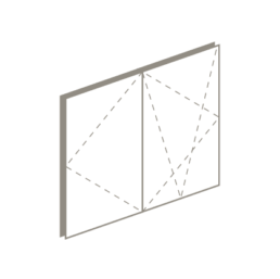 3 D drawing of double tilt and turn windows