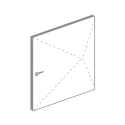 3 D drawing of pivot door