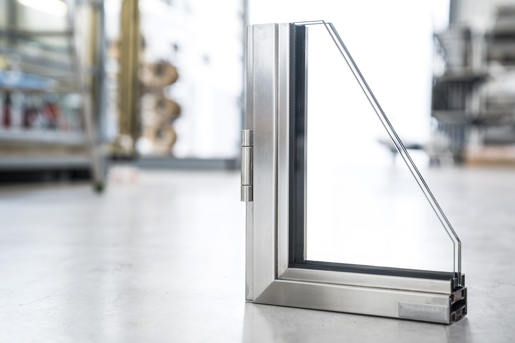 metal window and door mock-up