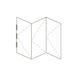 Bifold Door 3+0 Sash Configuration