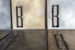 Metals: Brombal's metal plates with textures and colors