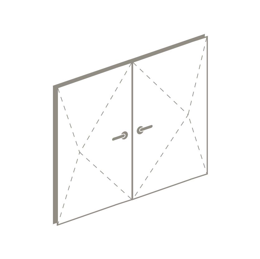 double pivot door icon