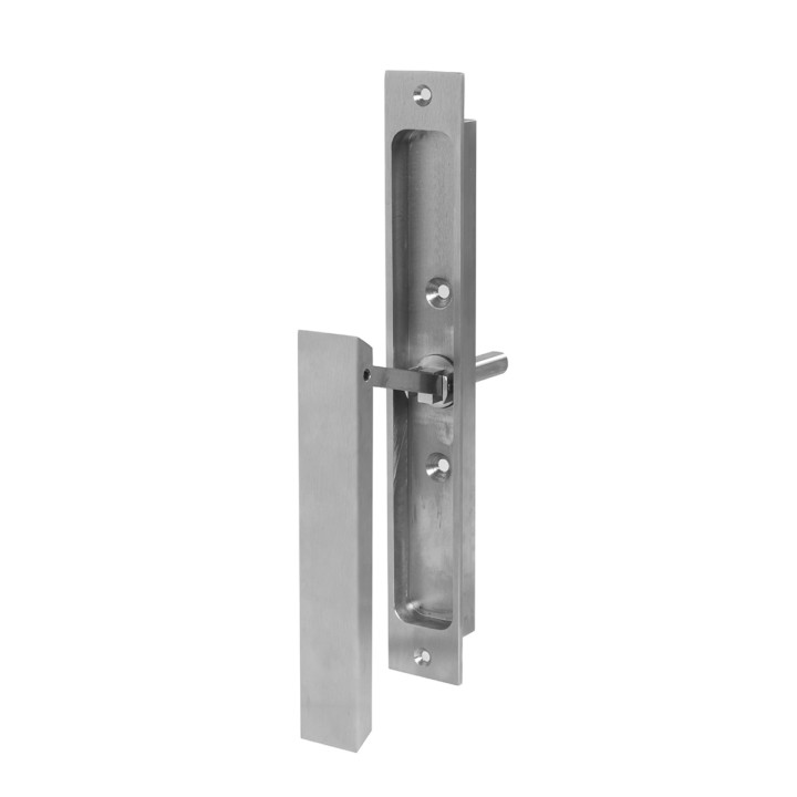 Hardware: Metal flush lift and slide handle