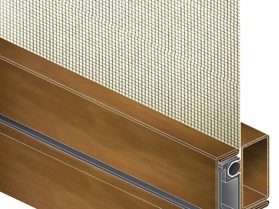Windows and doors screens: 3D drawing of Brombal's hinge screen
