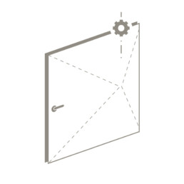 motorized pivot door icon