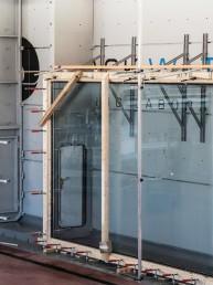 Huge glazing at the Blackwater testing lab