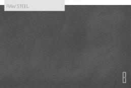 raw steel color