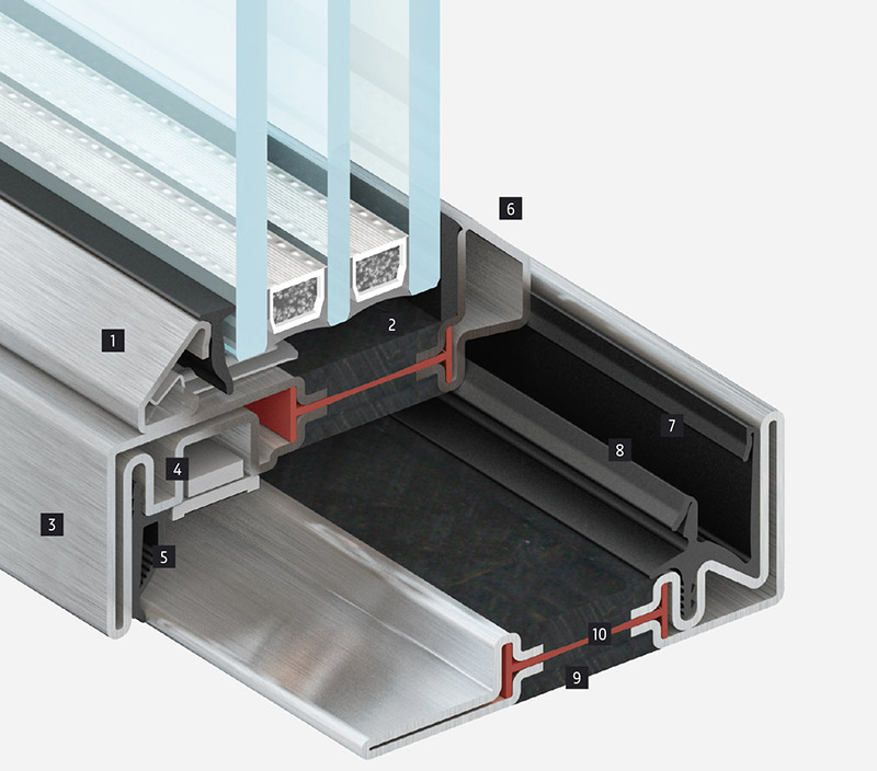 3D drawing of faro BV frame section
