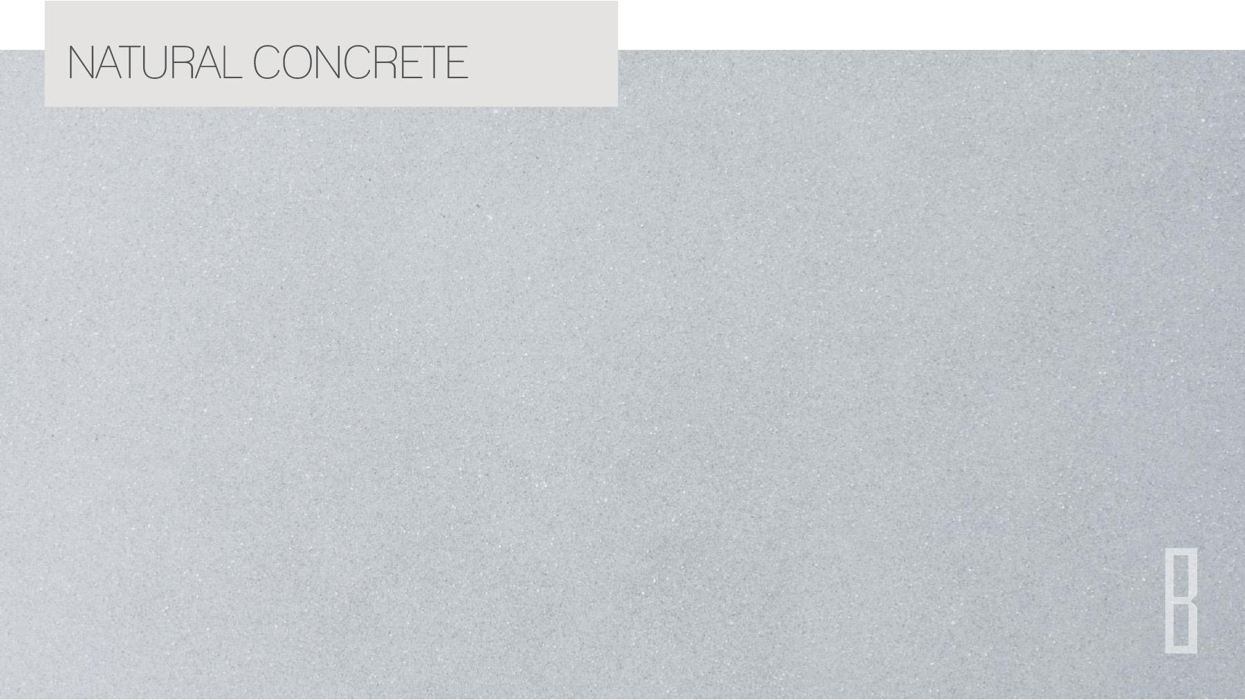 Unique finish natural concrete